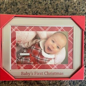 Malden baby's first Christmas frame (silver)